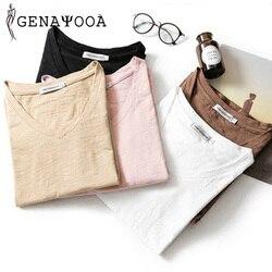 T shirt Women Cotton Basic V Neck Black T Shirt Women Short Sleeve Summer Tshirt Women New Arrivals Women Tops 2019 Harajuku 3