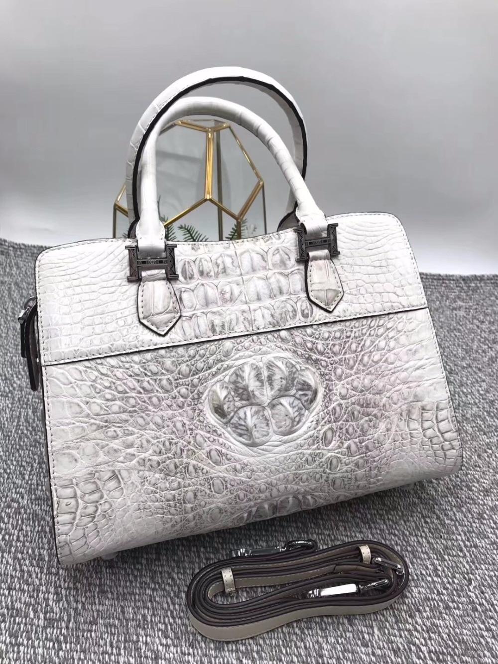 Fashion Three-way Designer Genuine Crocodile Leather Female Totes bag Real Alligator Skin Medium Size Women's Top handle Handbag цена