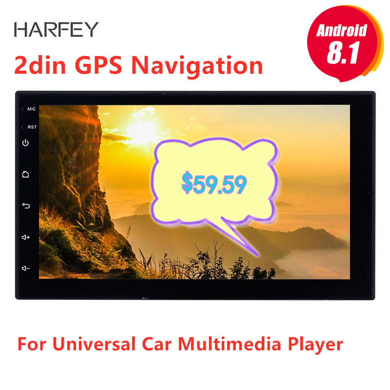 Harfey 7 Universal Autoradio 2 din radio coche Android 8 1 GPS car radio For Nissan