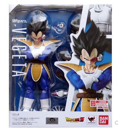 2 0 scouter Vegeta black hair action figure Dragon Ball Z model toy DBZ 1 12