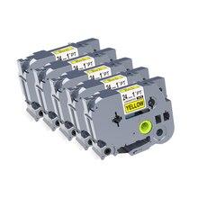 3 шт./лот совместимый с Brother этикетка переключение на ноль лента 24 мм черный на желтый TZe-651 TZe 651 tz651 tz-651 для Brother p touch label printer