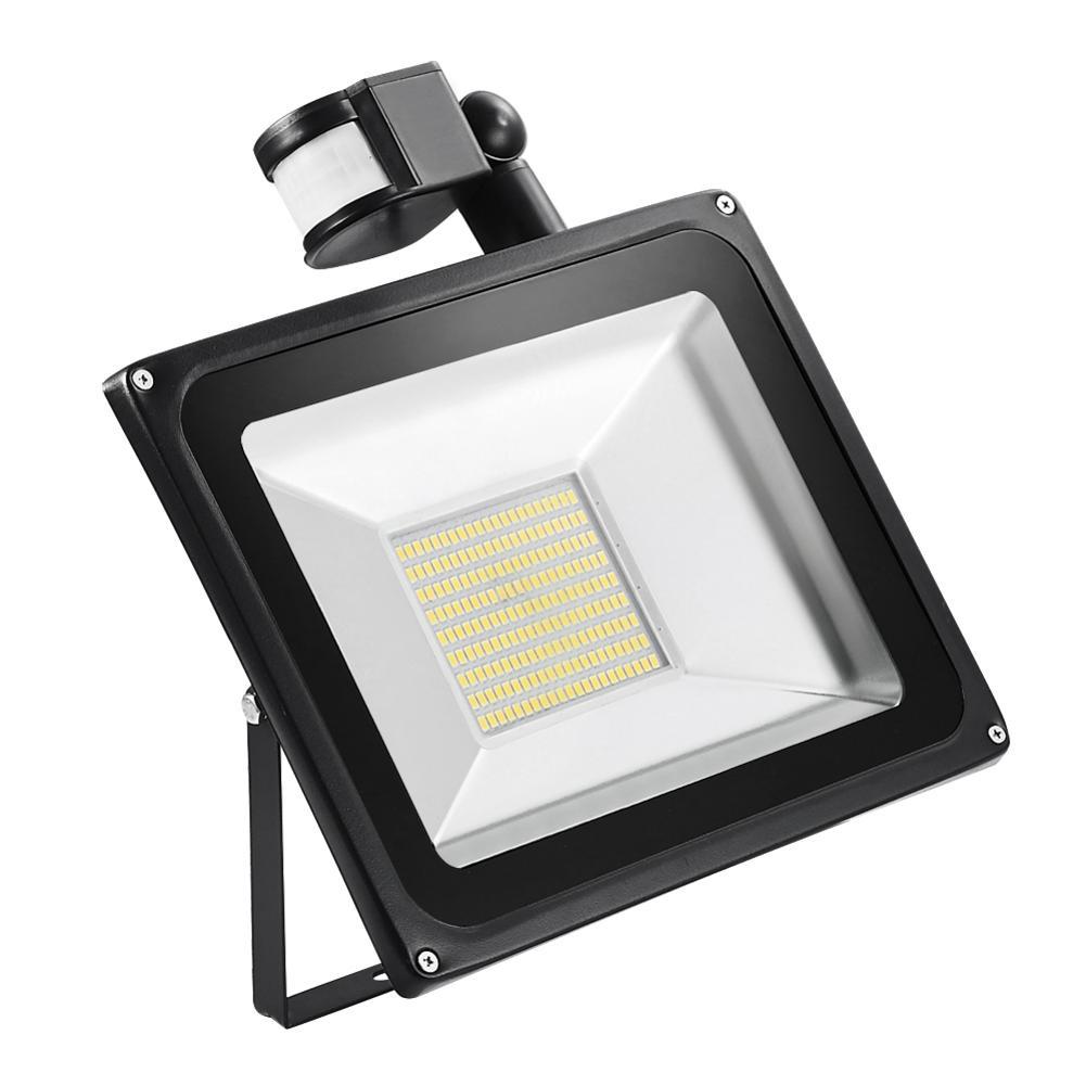 La quatrième génération de Patch détection 100 W blanc chaud 220 V voiture phares maison Yard route Led lumières Super léger accessoire