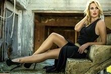 lips blonde heels sexy dress model woman KA480 living room home wall modern art decor wood frame poster