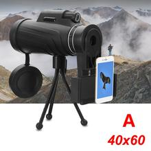 Cheap price 40×60 magnification Adjustable Waterproof HD Lens Zoom Monocular Phone Telescope+Bag+Tripod For Samsung Galaxy For Huawei Travel