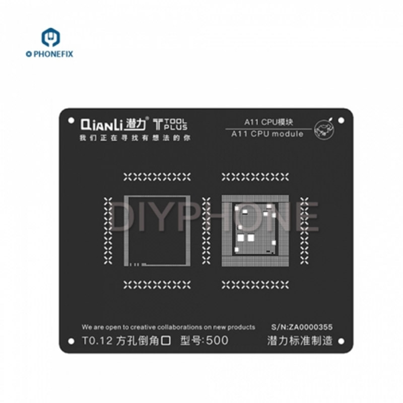 QianLi 3D iBlack BGA Stencil CPU IC Chips BGA Reballing Stencils A7 A8 A9 A10 A11 CPU Motherboard Repair for iPhone 6 7 8 X
