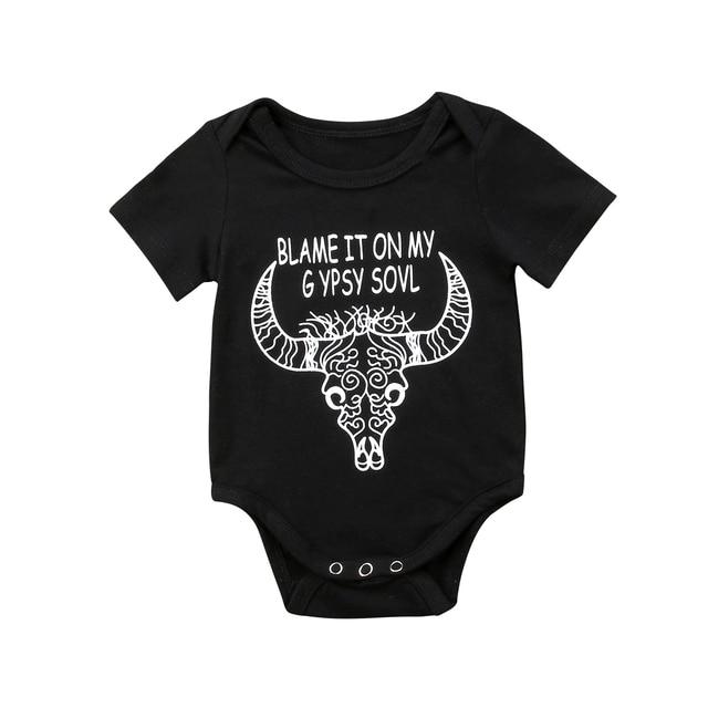 16a491f740e4 Newborn Infant Baby Girl Boy Clothes Gypsy Deer Romper Jumpsuit ...