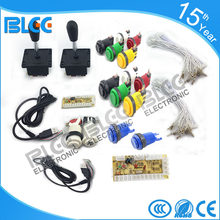 Free shipping DIY arcade 1 kit of single player PC joystick PCB USB joystick PCB with wires USB controls to Jamma arcade games(China)