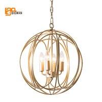 New Ball Design Modern Chandelier LED Lamp AC110V 220V Gold Kroonluchter Dinning Room Living Room Lamp