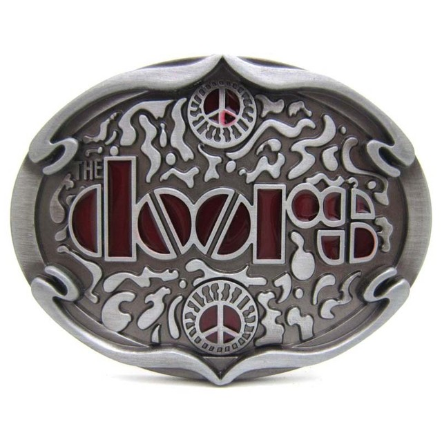 T-DISOM New Arrival Western Belt Buckles Doors Rock Music Belt Buckle For Mens Jeans Suit For PU Belts Drop shipping