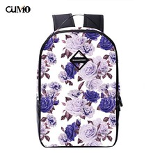 Ou Mo Brand Floral laptop backpack Women computer Bag anti theft Boys/Girls school teenagers travel man Backpack