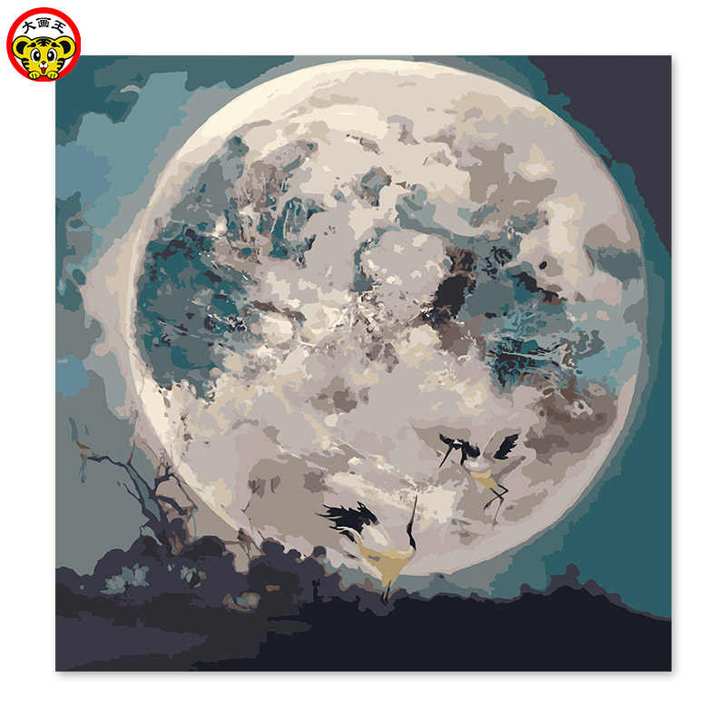 painting by numbers art paint by number Crystal ball  Digital Painting  Transparent ball Glowing ball  Moon painting by numbers