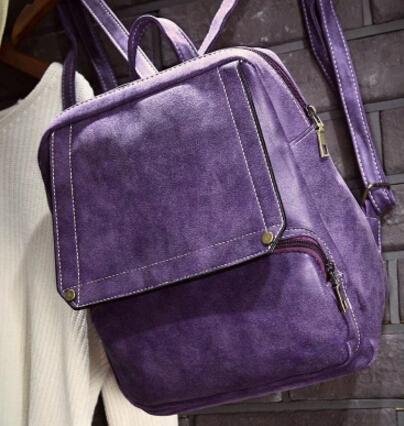 Prix pour Mode femmes fille mignon pu en cuir simple sac à dos campus étudiant sac d'école des femmes sac à dos yy-89/5