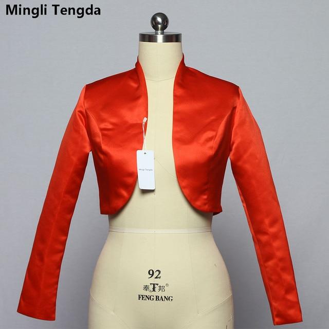 quality design fda2e 9fde6 Mingli-Tengda-Stain-Manica-Lunga-Bolero-di-Cerimonia-Nuziale-Giacca-Da-Sposa- Rosso-Nero-Giacca-Cappotto.jpg 640x640.jpg