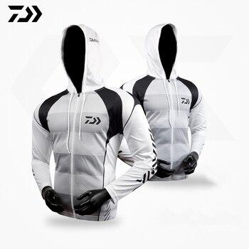 dec2b5c7a Dawa deportes Daiwa ropa de pesca con capucha Sunproof transpirable manga  larga de secado rápido en