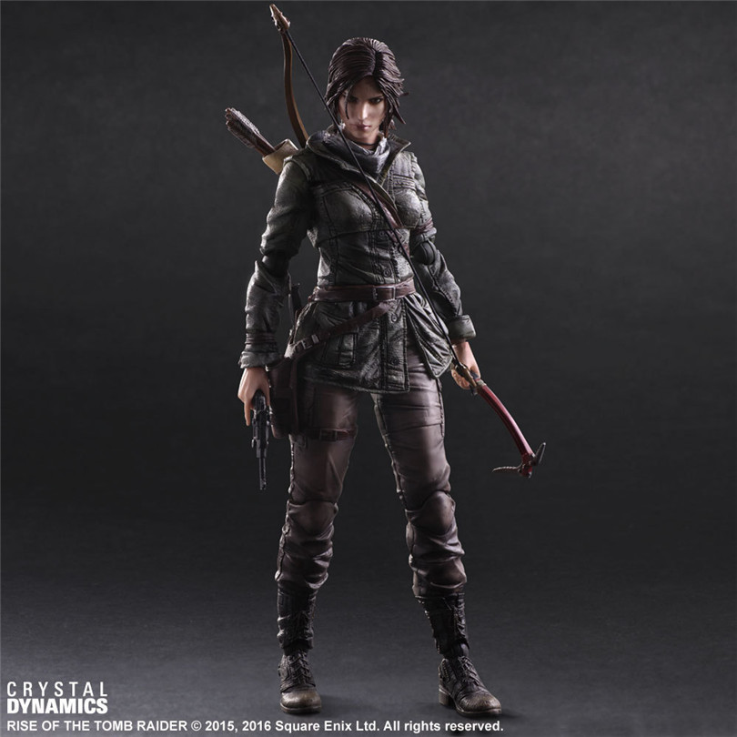 Tomb Raider PVC Action Figure Boys Toys Square Enix Anime Lara Collectable 3D Game Toys Croft Play Arts Christmas Gift BN009 multi electric grinder detailers grip a577 for dremel 4000 3000 rotary tool attachment mini drill handle bar tools accessory