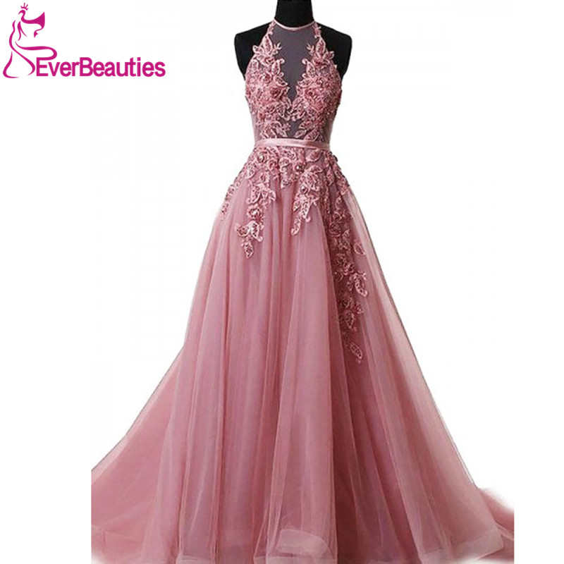 Robe De Soiree   Evening     Dress   Long 2019 Appliques Beading Long Tulle Party Gowns   Evening   Gowns Abendkleider