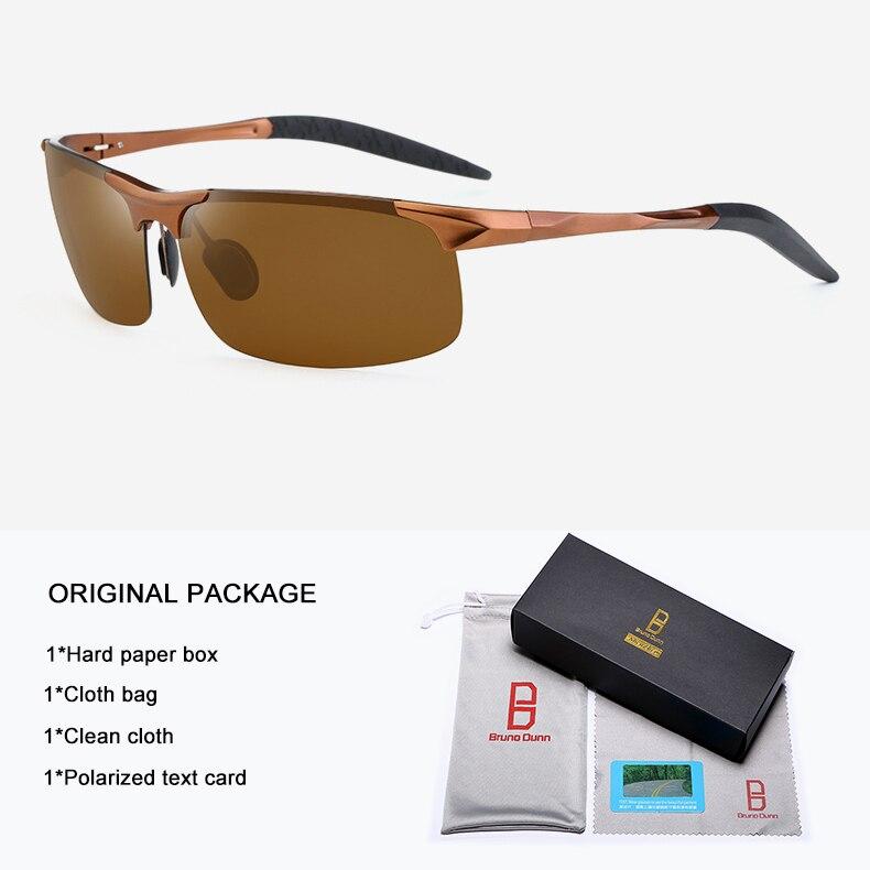 Bruno Dunn Driving polarized Men sunglasses 2020 sports High Quality UV400 Aluminum sun glasses for male oculos de sol masculino 12