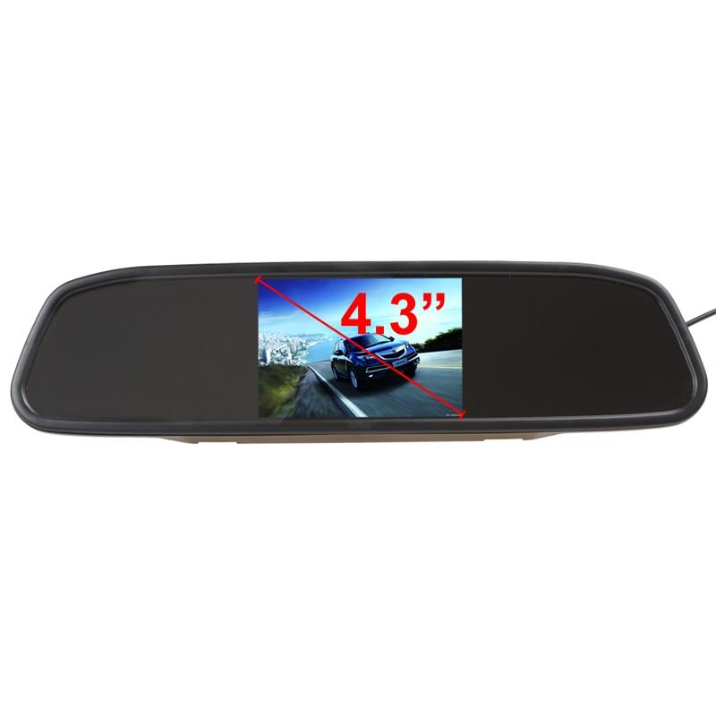 Universaalne auto 4.3 Digitaalne TFT LCD peegel Autode parkimise - Autode Elektroonika - Foto 2