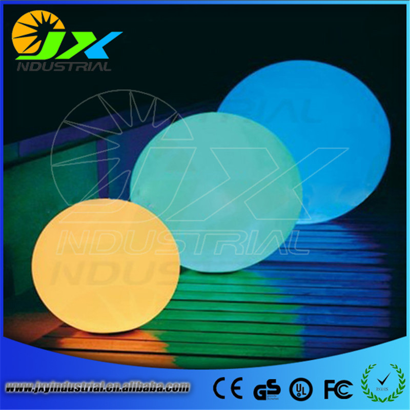 Colorful wedding decoration/ PE material, waterproof LED ball used in pool garden decoration
