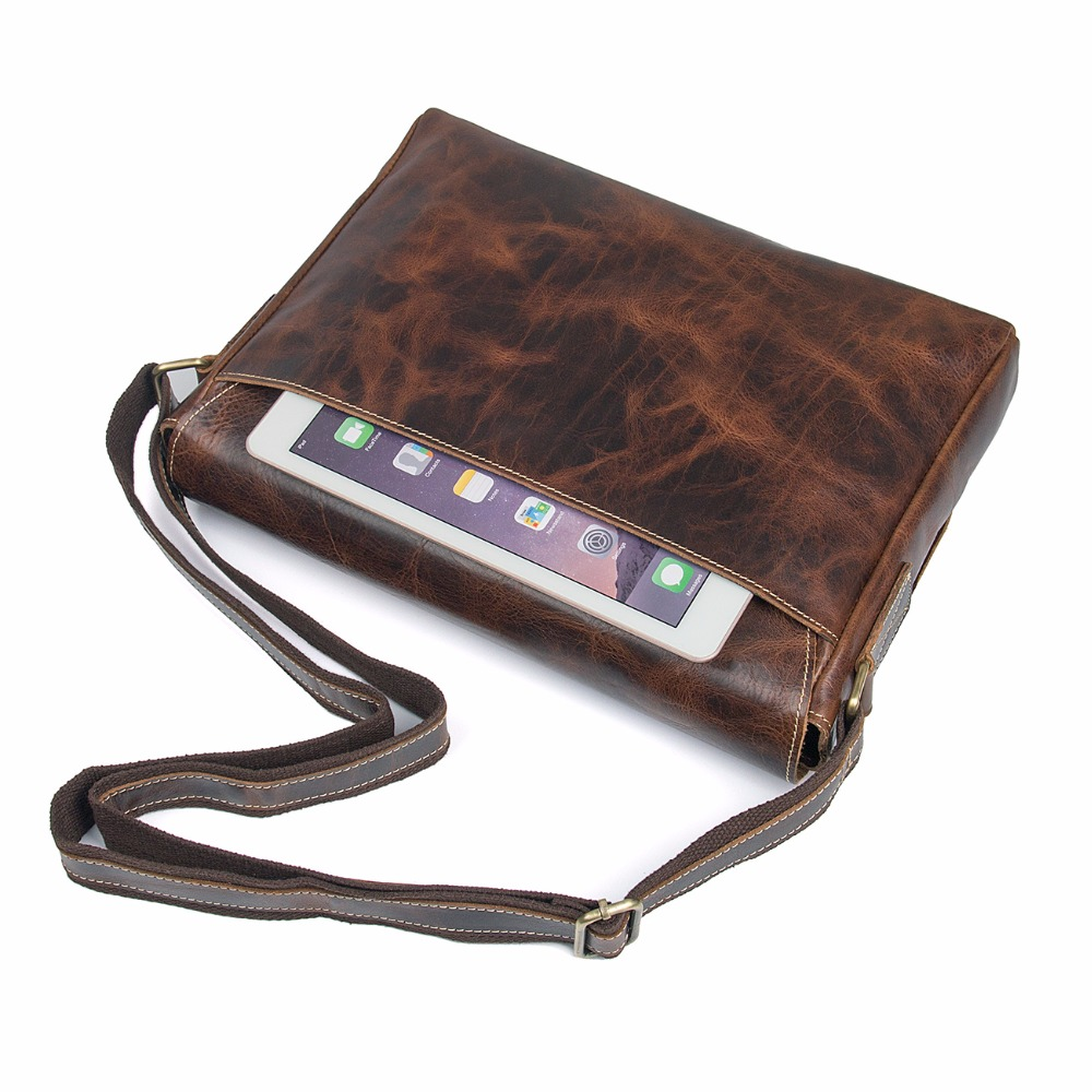 J.M.D J.M.D Top Quality 100% Genuine Cow Leather Classic Messenger Bag Fits Wallets And Ipad Durable Cross Body Bag 1036Q