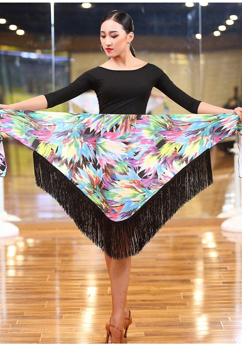 22c0caa32 2019 Women Ballroom Latin Salsa Tango Tassel Dance Skirt Skate Wrap ...
