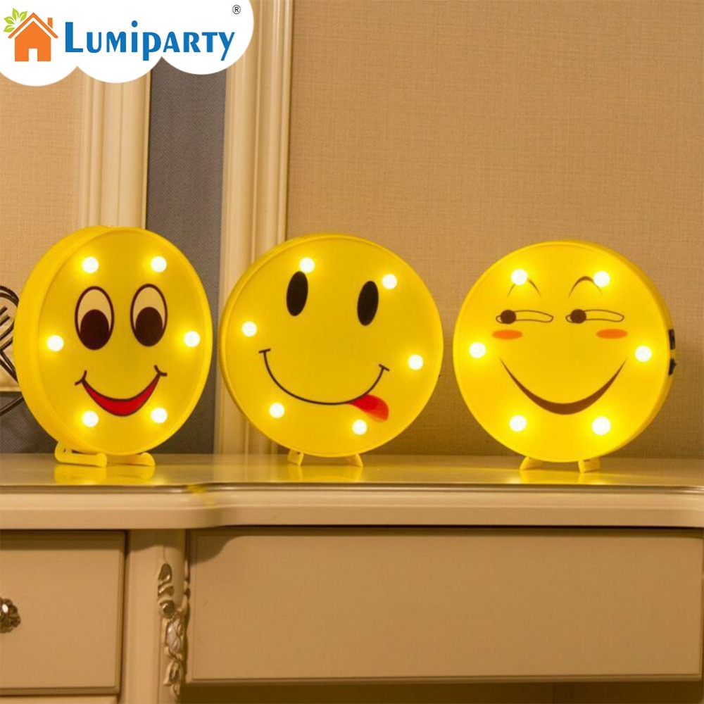LumiParty Lovely Expression Series Modeling Light Novel Durable Energy-Saving Night Light with 2 Power Supply Modes Night Lamp