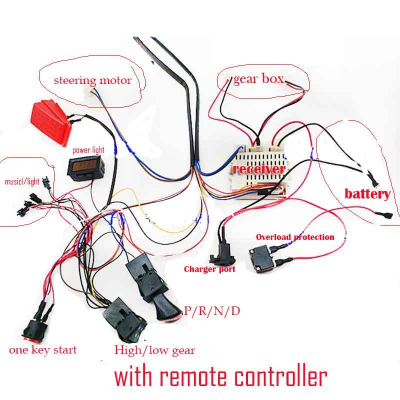 Wellye Child Electric Car Diy Accessories Wires Receiver