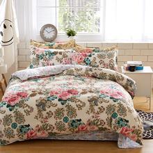寝具セット綿セット反応性印刷ホット販売の布団ベッドセットクイーンフルサイズ4個