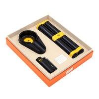 Smoking Set Cigar Suit with 2 Tube Humidor + Ashtray +Cigar Lighter, Portable Travel Cigar Set Creative home gadgets CL190201162
