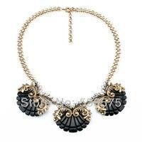 Shijie New Hot Sale Pendants Designe Statement Party Vintage Black And Pink Pendant Best Friend Choker