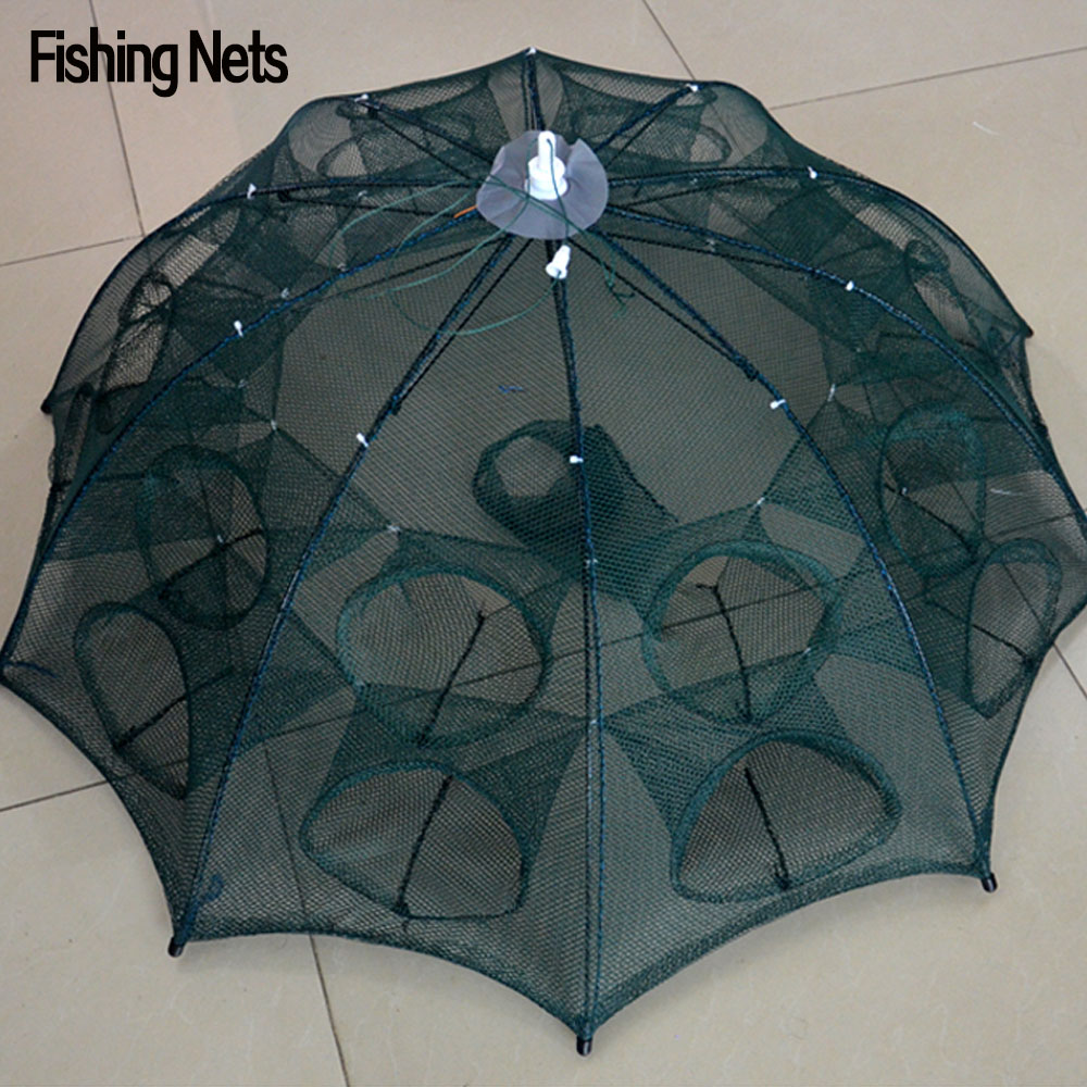 NEW Automatic Fishing Net Shrimp Cage Nylon Foldable Crab Fish Trap Cast Net Cast Folding Fishing Network Free Shipping fishing basket creel 3 layer multicolored nylon collapsible drawstring bottom nets cage for shrimp crab lobster outdoor fishing