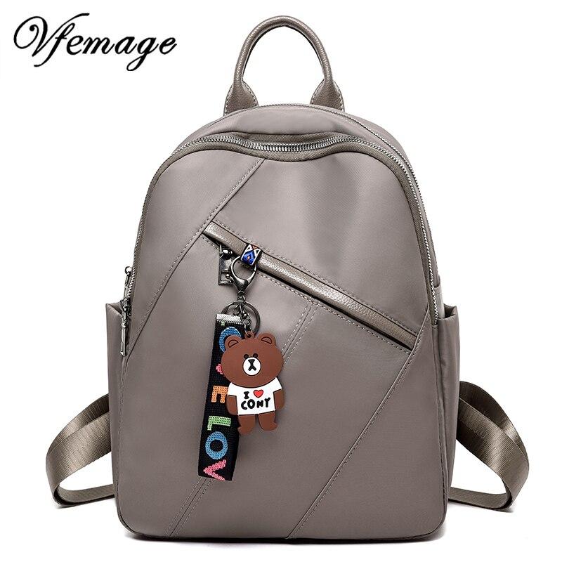 Vfemage Brand Fashion Women Backpack Mini Backpack Oxford Book Bag For Teenager Girls Small Bagpack Multifunction Bags Designer