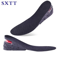 SXTT3 Layers Stealth Adjustable Insoles For Men Women Shoes Pad Increase Height Insole Air Cushion Lift Heel Orthopedic Palmilha