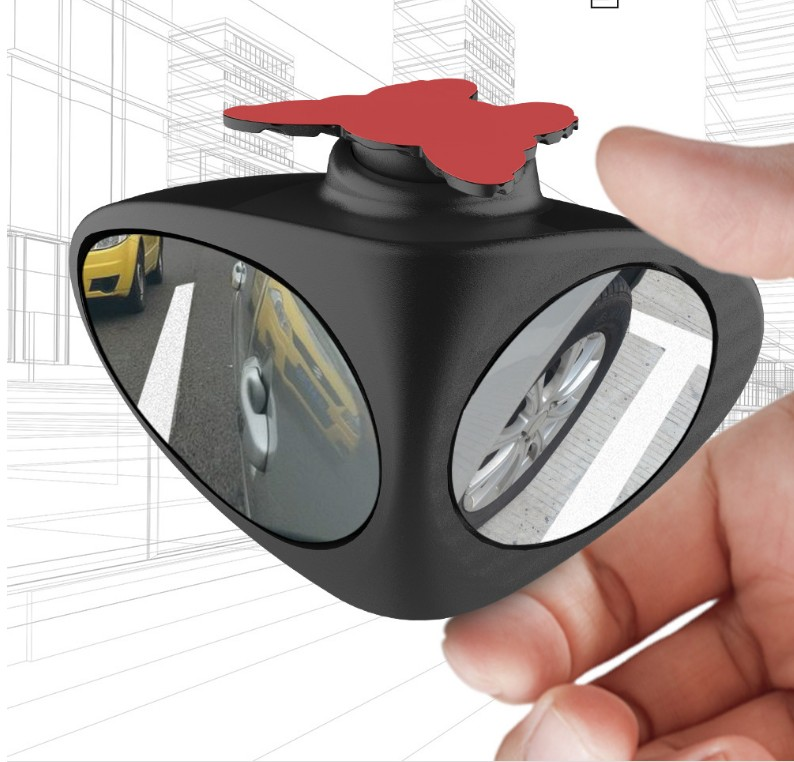 1 ABS Glass Rear View Mirror Car 360Degree 2 Side Blind Area Anti Collision Shell Aux Convexed Reverse Reflector 7 5 5 5cm in Mirror Covers from Automobiles Motorcycles