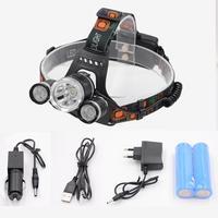 Headlamps Head Lamp T6 Head Lamp Rechargeable 10000 Lumen Waterproof Headlight Head Light 18650 USB For