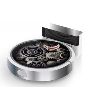 Image 5 - 1 * かわいいフクロウパンダスタイルステッカーxiaomi mi 1 SDJQR02RRロボット掃除機美化保護フィルム部品アクセサリー
