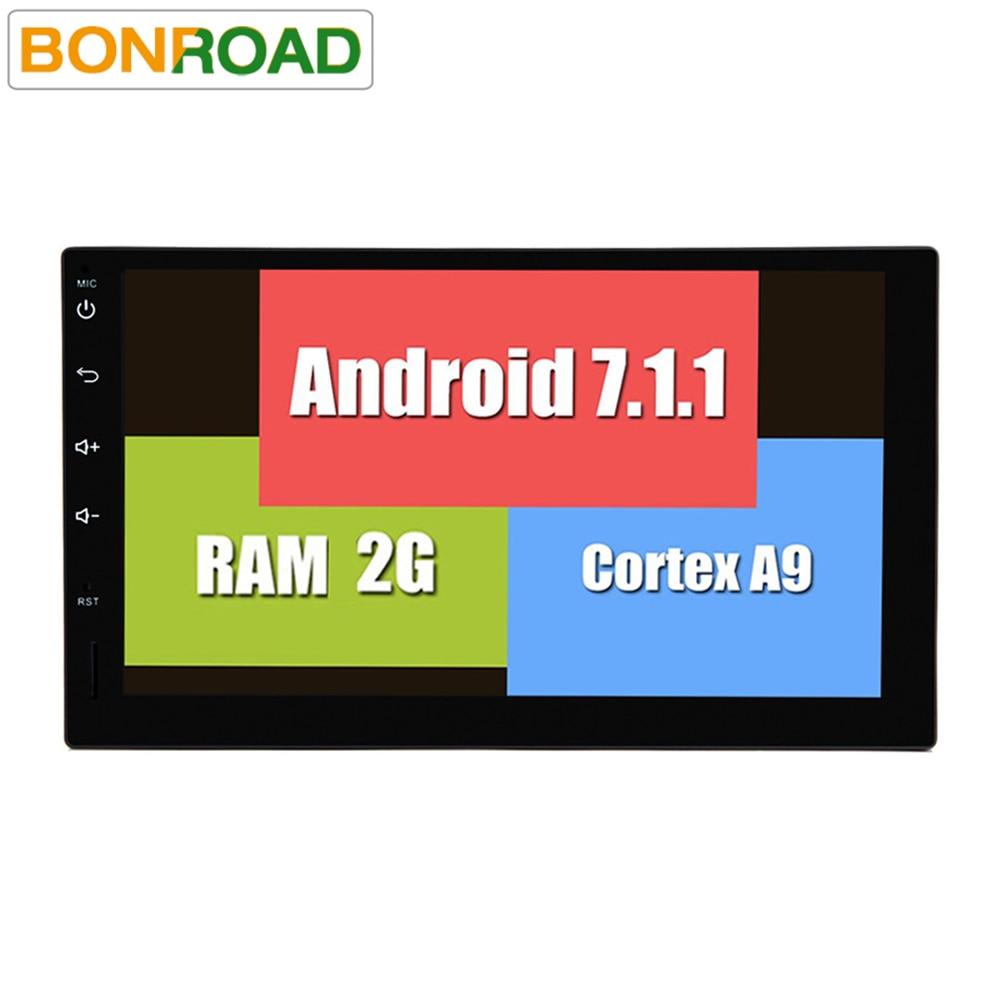 imágenes para Lo nuevo Android 7.1.1 Coche Reproductor de Vídeo Universal Pantalla Táctil de Cuatro Núcleos 2 DIN Radio Del Coche GPS Audio Estéreo FM De Navegación GPS Estéreo