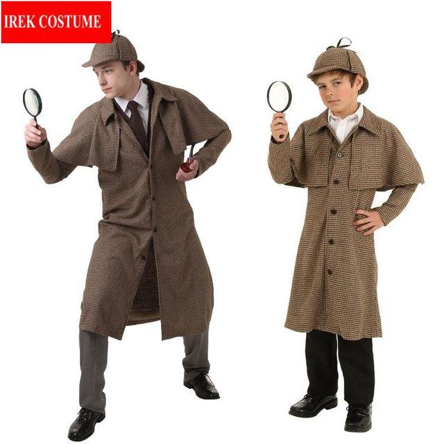 IREK hot Halloween Costume Adult Children Sherlock Holmes cosplay ...