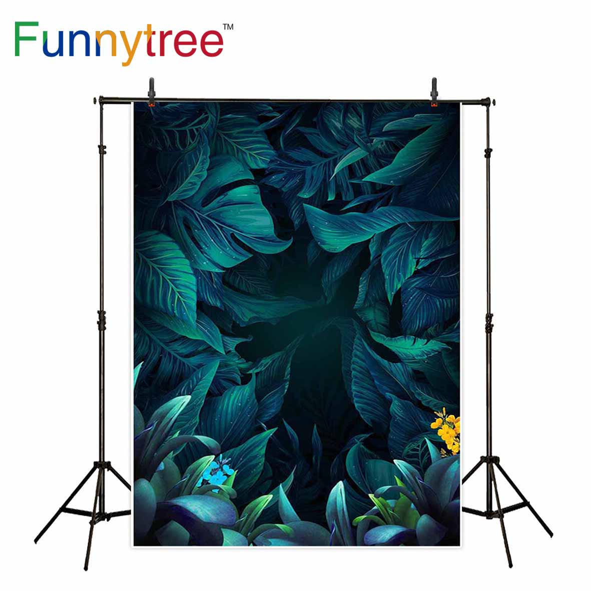 Funnytree backdrop for photographic studio leaves tropical ...