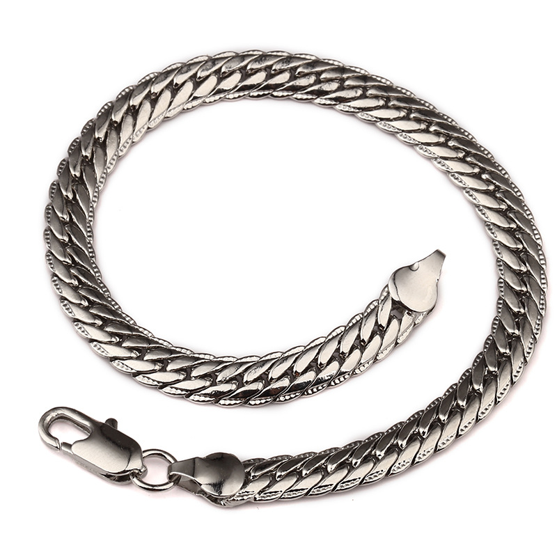 ER 5mm Male Iced Out Bracelet Gold Snake Chain Link Curb Cuff Bracelet Man Armbanden Rock Wristband Hiphop Men Jewerly RB007