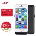 JLW 4200 mah Banco de Potência Telefones Celulares Case Capa Externa Recarregável pacote de backup de bateria caso carregador portátil para o iphone se 5 5S