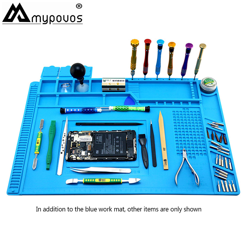 Heat-resistant BGA Soldering Station Soldering Pad Silicone Heat Gun Insulation Pad Repair Tools Maintenance Platform Desk Mat