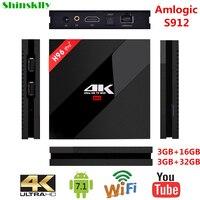 Shinsklly H96 PRO Smart TV Box Android 7 1 Amlogic S912 Octa Core RAM3GB 32GB Android