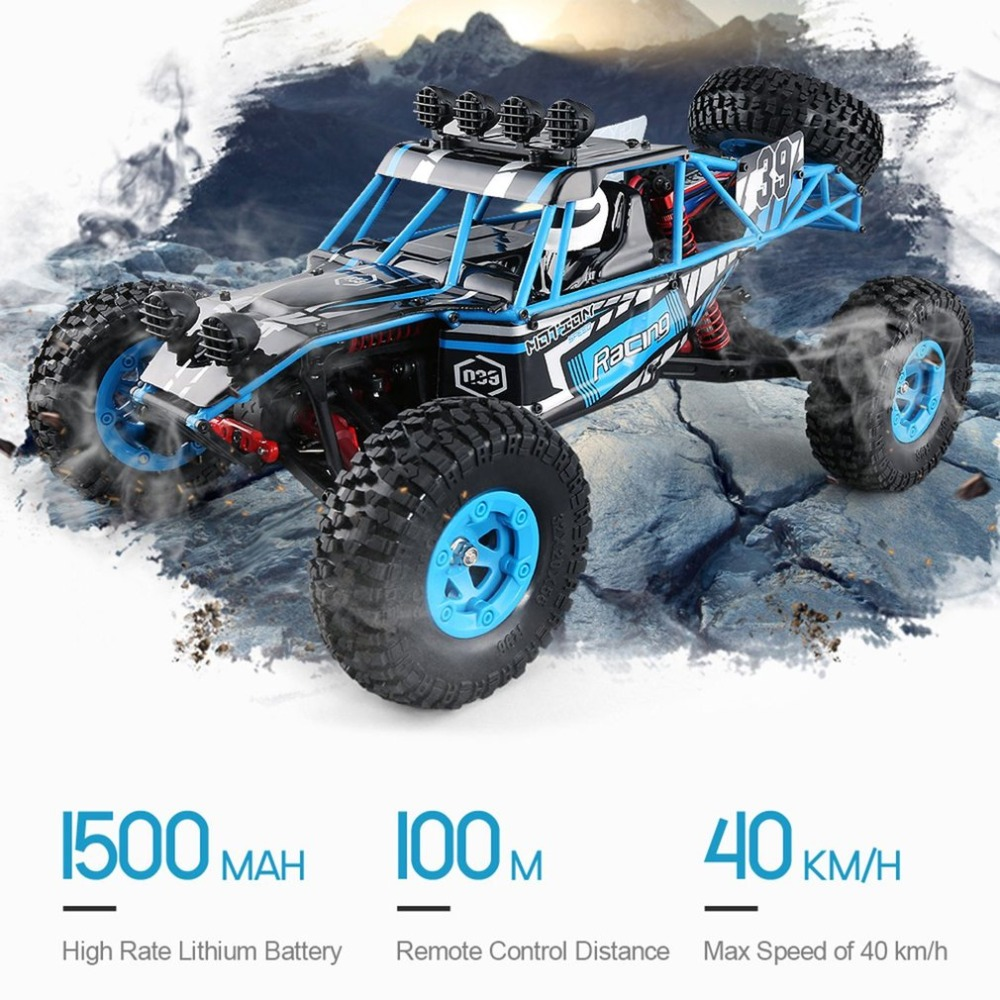 Jjrc Q39 Rc Auto Highlander 1:12 4wd Rc Wüste Lkw Rtr 35 Km/h Schnelle Geschwindigkeit High-drehmoment Servo 7,4 V 1500 Mah Lipo Off Road Autos Quell Sommer Durst Rc-lastwagen