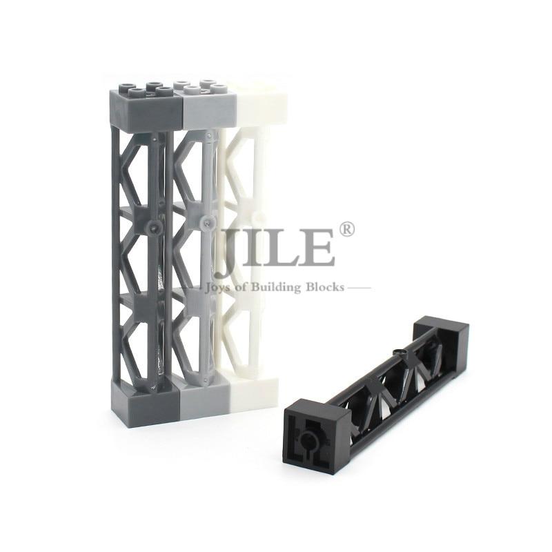 Moc fer cadre Support 2x2x10 58827 bricolage blocs de construction briques Compatible assemble ville vue particules Rail clôture belvédère Table
