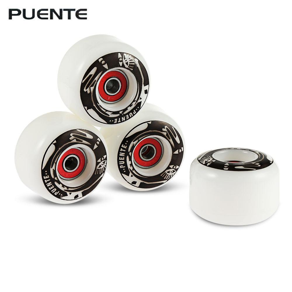 4PCS 60x45mm Durable PU Longboard Skateboard Wheel Skate Roller ABEC-9 Bearing D