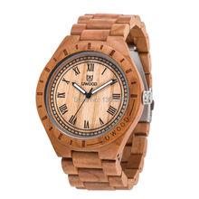 Bois montre UWOOD Quartz casual montres pour homme célèbre marque bois montre noël cadeau bois montre