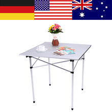 Portable Ultralight Height-Adjustable Aluminum Table Folding Outdoor Table Stool Set for Dining Picnic Camping BBQ Camping Table(China)