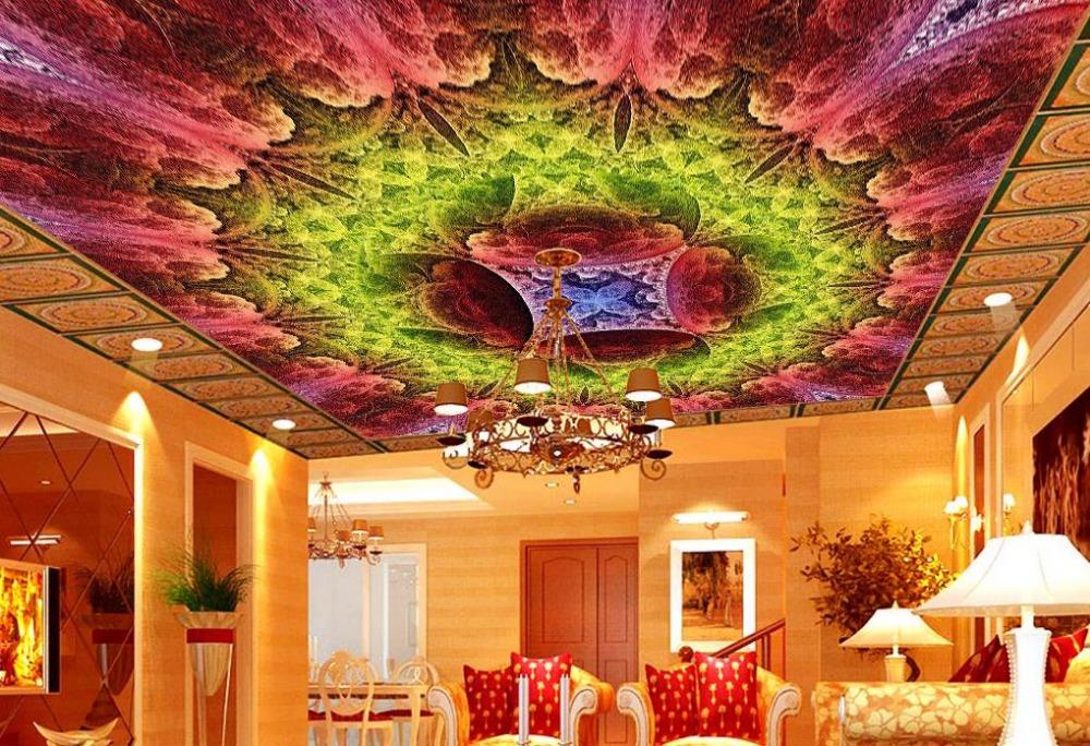 Benutzerdefinierte 3d Schalldichte Decke Wandmalereien Magnificent Sky Luxus Tapete Fr Badezimmer Stereoskopische