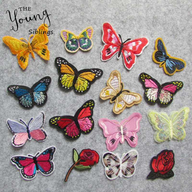 High quality Butterfly patch For Clothing Iron On Embroidered Appliques DIY Apparel Accessories Patches For Clothing Fabric